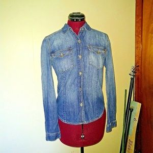 Juicy Couture Size XS Shirt Chambray Button Up